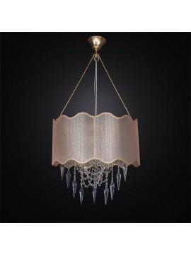 Lampadario contemporaneo cristallo e tessuto 3 luci BGA 2662/S45