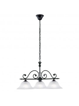 Classic barbell wrought iron 3 lights GLO 91005 Murcia