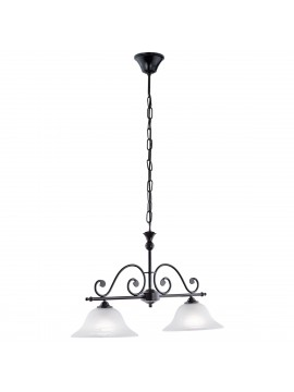 Classic barbell wrought iron 2 lights GLO 91004 Murcia