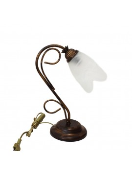 Classic table lamp in wrought iron 1 light Flavia