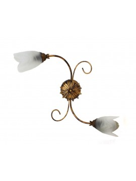 Classic ceiling light in wrought iron 2 lights Flavia