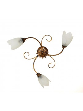 Classic ceiling lamp in wrought iron 3 lights Flavia