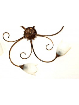 Classic ceiling lamp in wrought iron 5 lights Flavia