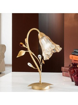 Classic table lamp in wrought iron 1 light emma-l