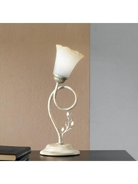 Classic table lamp in wrought iron 1 light elena cream-l