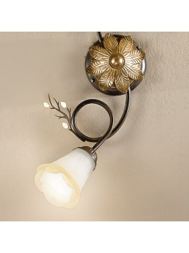 Classic ceiling lamp in wrought iron 2 lights dark elena-pl2