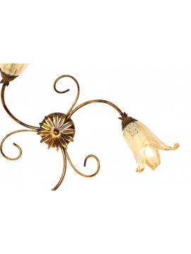 Classic ceiling lamp in wrought iron 3 lights Elisa