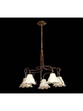 Wrought iron classic chandelier 5 lights BGA 1270