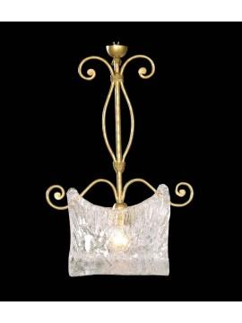 Wrought iron chandelier 1 light gold BGA 1222