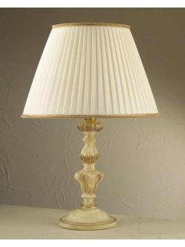Lume grande classico in legno avorio-foglia oro 1 luce Esse 785/bg
