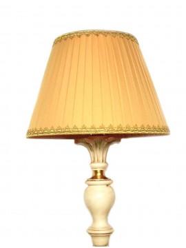 Lume grande classico in legno avorio e foglia oro 1 luce Dbs 300/bgl