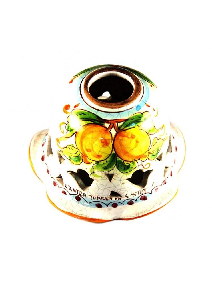 Piatto D.16 decoro Limoni ceramica siciliana ricambio lampadario