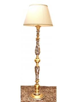 Piantana classica in legno foglia oro-avorio 1 luce Dbs 300/pt
