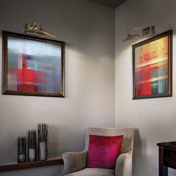 Contemporary wall lights